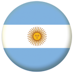 Argentina Country Flag 58mm Mirror